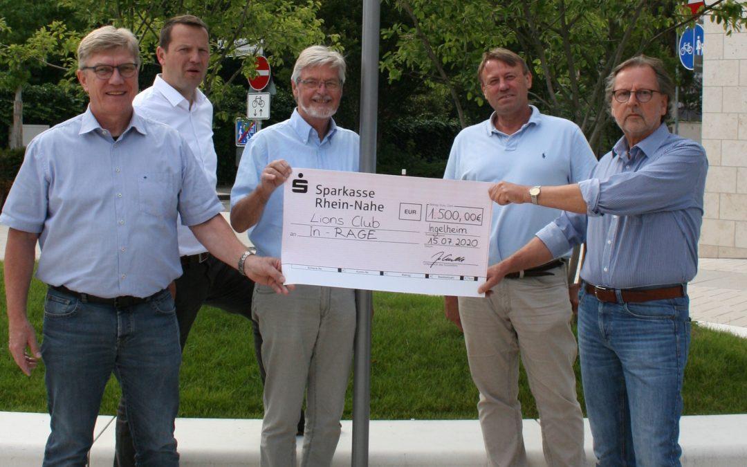 Förderung In-RAGE -das Ingelheimer Bündnis gegen Rassismus und Ge¬walt e.V. – durch den Lions Club Ingelheim